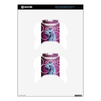 Kid Rides Blue Giant Adorable Monster Xbox 360 Controller Skins