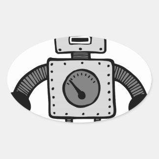 Kid Robot Oval Sticker