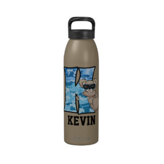 Kid s Blue Monogram K Water Bottle