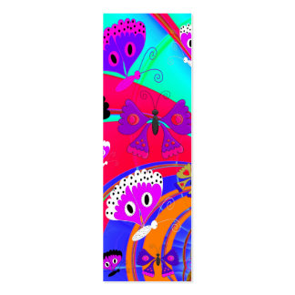 Kid s Bookmark Girls Butterfly Collage 2 Business Card Templates