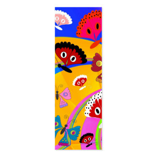 Kid s Bookmark Girls Butterfly Collage Business Card