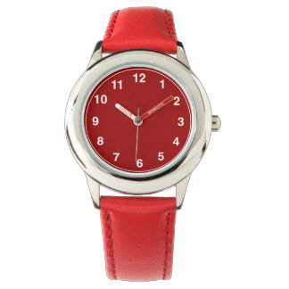 Kid's Custom Stainless Steel Red Band Watch