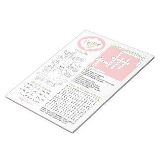 Kid s Easter Activity Fun Sheet 8 5 x11 Notepad