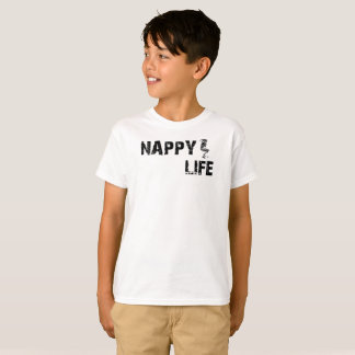 Kid's Nappy Life Short Sleeve T-shirt w/Black Logo