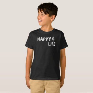 Kid's Nappy Life Short Sleeve T-shirt w/White Logo