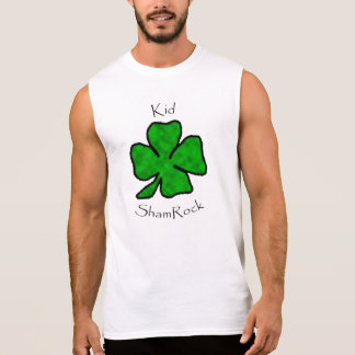 Kid ShamRock  - Green Shamrock Sleeveless Shirt