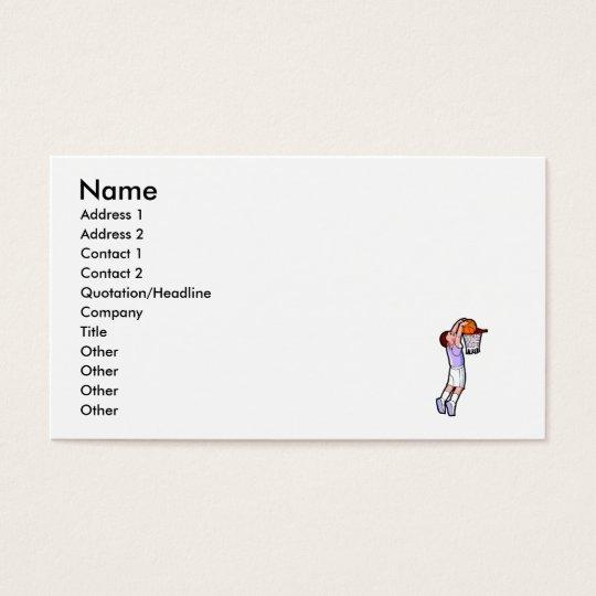 kid slam dunk business card