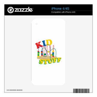 Kid Stuff iPhone 4S Decal