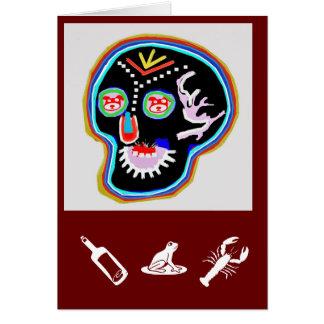 KID Stuff : Smiling Ghost n Friendly Frog Greeting Card