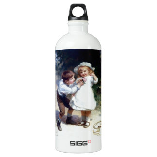Kid Sweethearts painting Aluminum Water Bottle