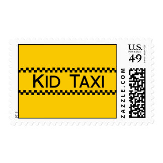 Kid Taxi Funny Design for Driving Fathers (or Moms Postage