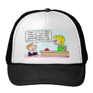 kid teacher video store spanish american war trucker hat
