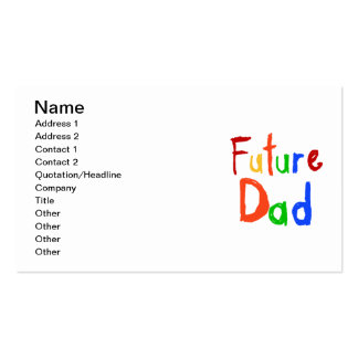 Kid Text Future Dad T-shirts and Gifts Double-Sided Standard Business Cards (Pack Of 100)