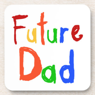 Kid Text Future Dad T-shirts and Gifts Coaster
