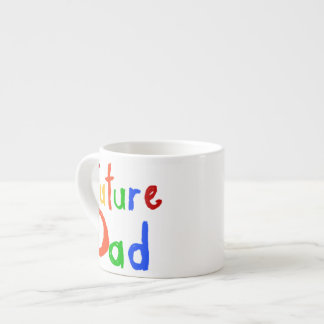 Kid Text Future Dad T-shirts and Gifts Espresso Cup