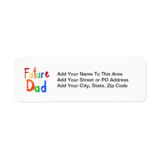 Kid Text Future Dad T-shirts and Gifts Return Address Labels