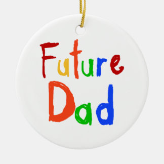 Kid Text Future Dad T-shirts and Gifts Christmas Tree Ornaments