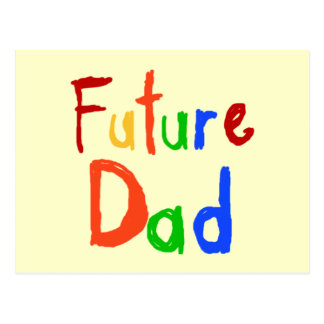Kid Text Future Dad T-shirts and Gifts Postcard
