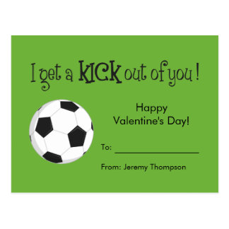 Kid Valentineu0026#39;s Day Card   Soccer Love