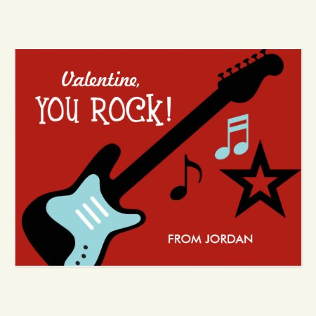 Kid Valentine's Day Card - You Rock