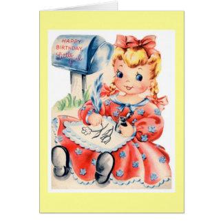 Kid vintage birthday card