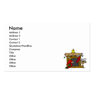 Kid waiting for santa at chimney Double-Sided standard business cards (Pack of 100)