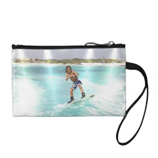 Kid Wakeboarding Coin Purse
