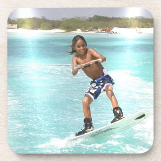 Kid Wakeboarding Cork Coasters