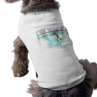 Kid Wakeboarding Dog Shirt