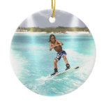 Kid Wakeboarding Ornament