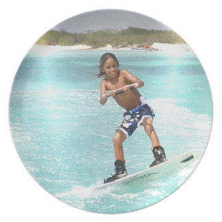 Kid Wakeboarding Plate