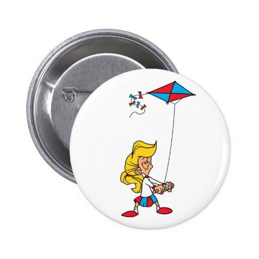 Kid With a Kite 2 Inch Round Button
