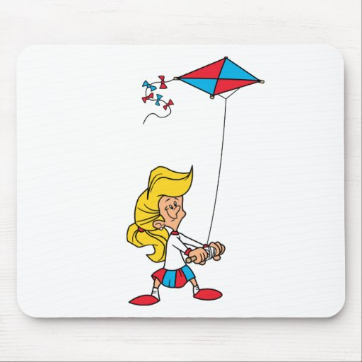 Kid With a Kite Mouse Pad