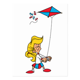 Kid With a Kite Postcard