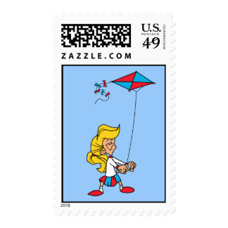 Kid With a Kite Stamps