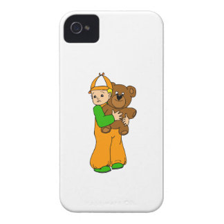 Kid with Bear iPhone 4 Cover