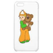 Kid with Bear iPhone 5C Case