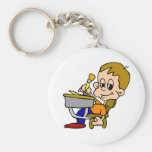Kid Writing At Desk Keychains