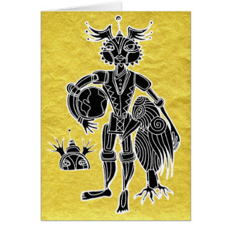 kidchina gold greeting card
