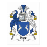 Kidd Family Crest Postcards