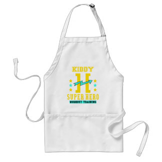 Kidd super hero workout training adult apron