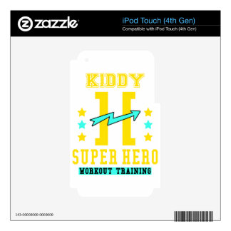 Kidd super hero workout training decal for iPod touch 4G