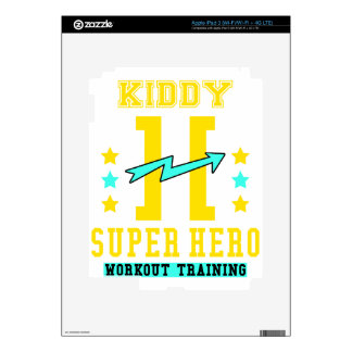 Kidd super hero workout training iPad 3 decal