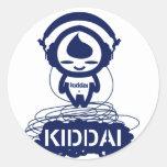 Kiddai+Kiddee Pegatina Redonda