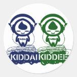 Kiddai+Kiddee Pegatinas Redondas