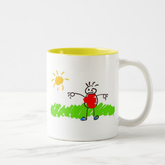 Kiddie Art Two-Tone Coffee Mug