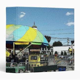Kiddie Car and Truck Amusement Park Ride 3 Ring Binder