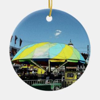 Kiddie Car and Truck Amusement Park Ride Ceramic Ornament