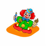 kiddie clown with pencil and ice cream photo sculptures