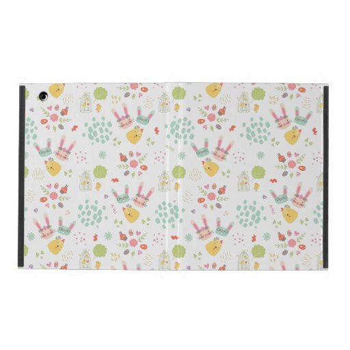 Kiddie Easter Bunny Pattern iPad Case